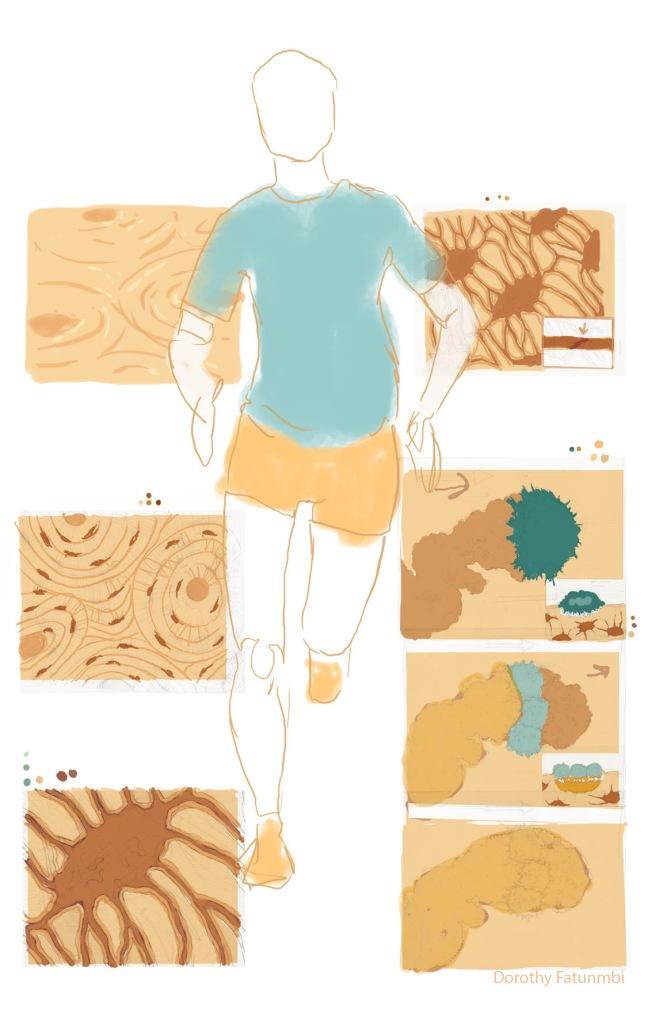 color composition of medical illustration