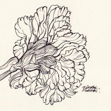 Ink flower 07